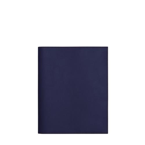 Couverture cahier A5 - Bleu Marine - Cuir Lisse