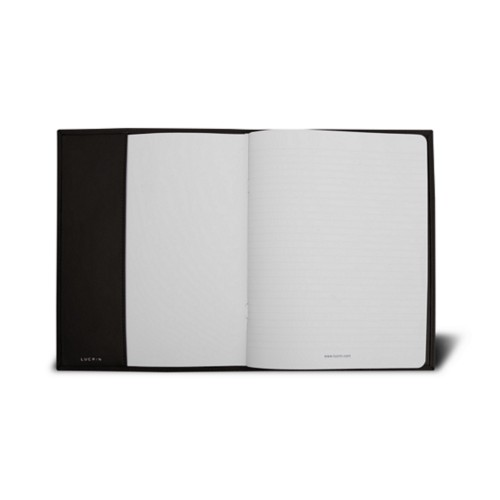 A5 Notebook cover - Dark Brown - Smooth Leather