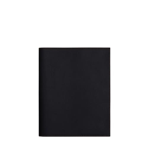 A5サイズ ノートブックカバー - Black - Smooth Leather