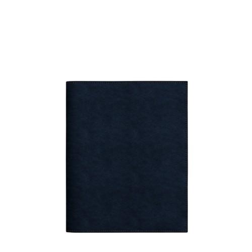 Couverture cahier A5 - Bleu Marine - Cuir végétal