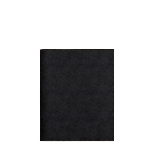 A5サイズ ノートブックカバー - Black - Vegetable Tanned Leather