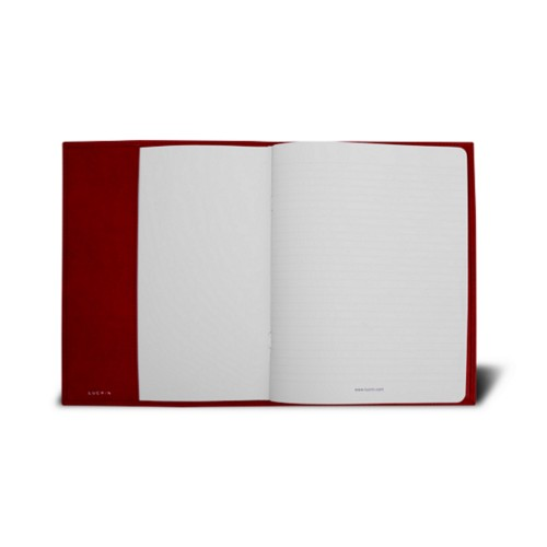 A5サイズ ノートブックカバー - Carmine - Vegetable Tanned Leather