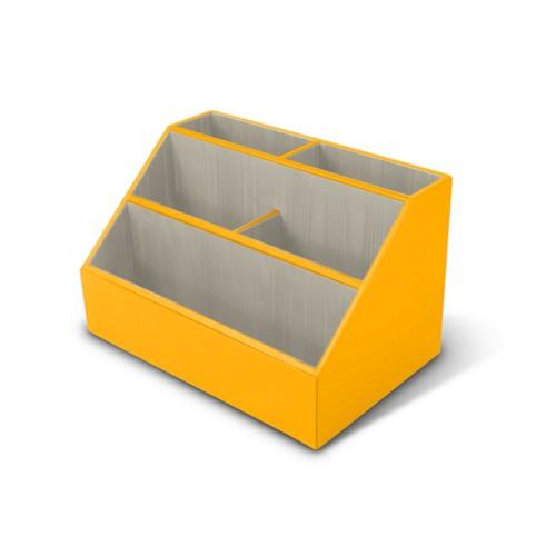 Desk Organizer - Sun Yellow - Smooth Leather