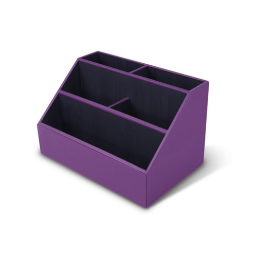 Desk Tidy - Lavender - Smooth Leather