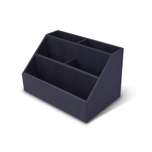 Desk Tidy - Purple - Smooth Leather