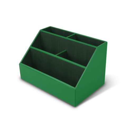 Desk Tidy - Light Green - Smooth Leather