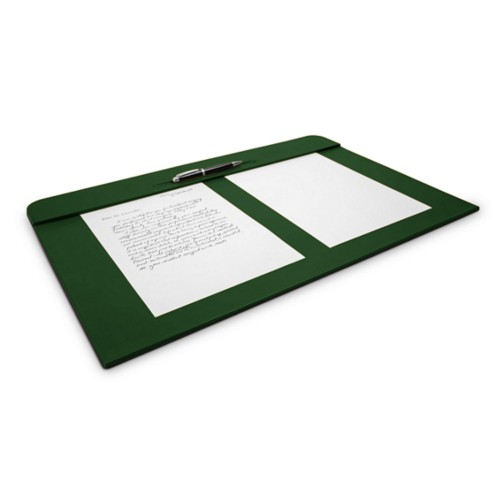 Desk pad (60 x 40 cm) - Dark Green - Smooth Leather