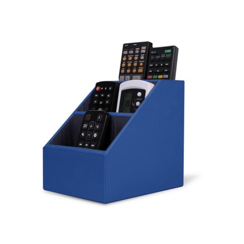 Remote Control Organiser - Royal Blue - Smooth Leather