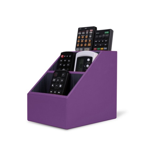 Remote Control Organiser - Lavender - Smooth Leather