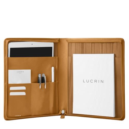 iPad Portfolio Folder Case - Natural - Smooth Leather