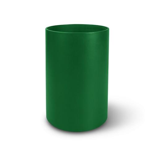 Kleine ronde papiermand - Lichtgroen - Soepel Leer