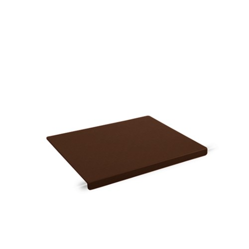 Schreibtischunterlage mit Kantenschoner (47,5x35cm) - Dunkelbraun - Lederfaserstoff
