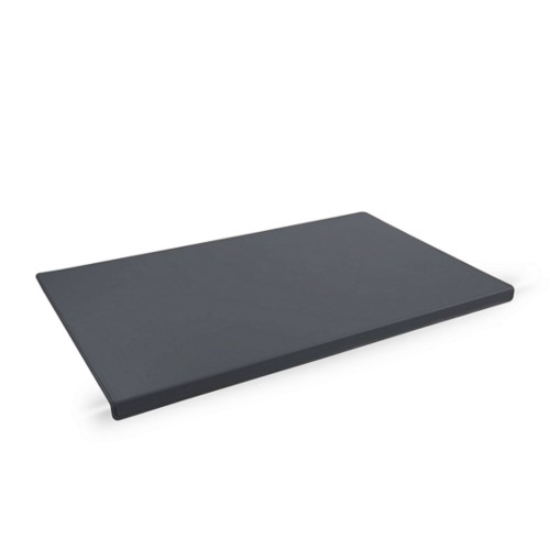 Desk Pad with Edge Protector (75 x 45 cm) - Mouse-Grey - Smooth Leather