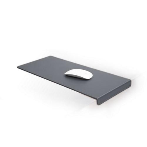 Grand tapis de souris avec rebord (20x45 cm) - Gris Souris - Cuir Lisse