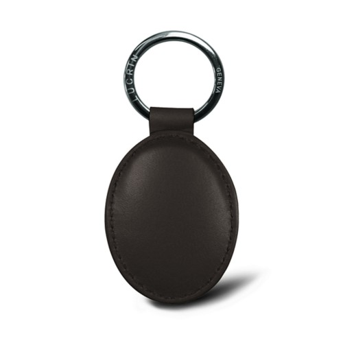 Ovaler Schlüsselanhänger - Silber