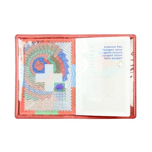 Universal passport holder - Red - Goat Leather