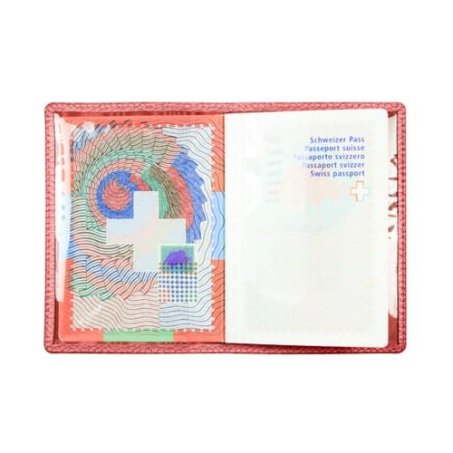 Universal Passport Holder - Red - Granulated Leather