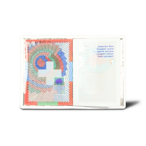 Universal passport holder - White - Smooth Leather