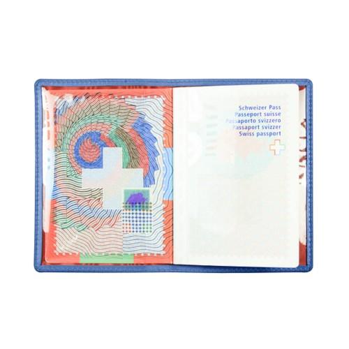 Custodia per il passaporto universale - Blu Reale - Pelle Liscia