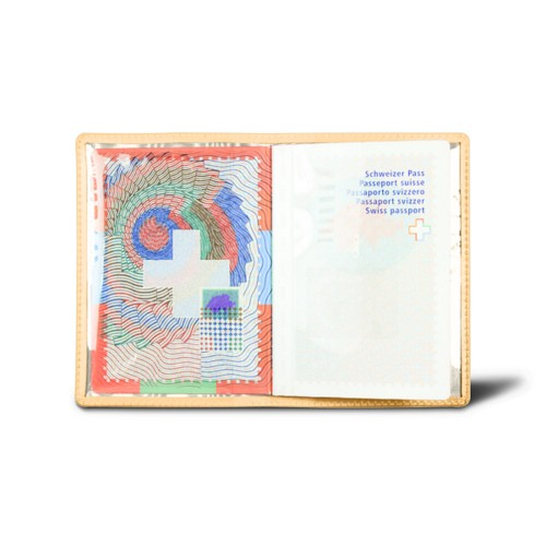 Universal passport holder - Mustard Yellow - Smooth Leather