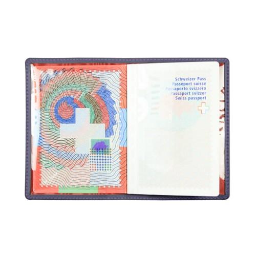 Reisepass hülle - Violett - Glattleder