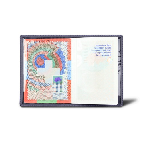Universal passport holder - Purple - Smooth Leather