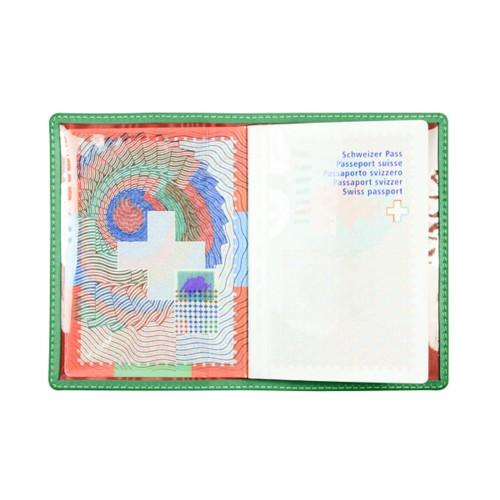 Universal passport holder - Light Green - Smooth Leather