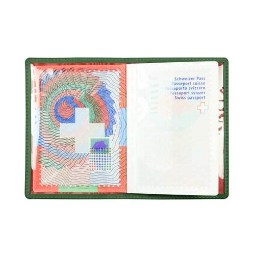 Universal passport holder - Dark Green - Smooth Leather