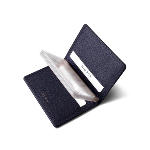 Slim credit cards holder - Purple - Granulated Leather