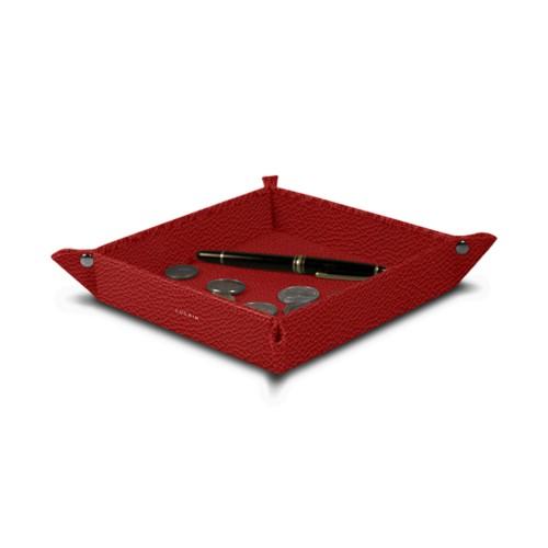 Quadratisches Taschenleerer (21x21x3.5 cm)