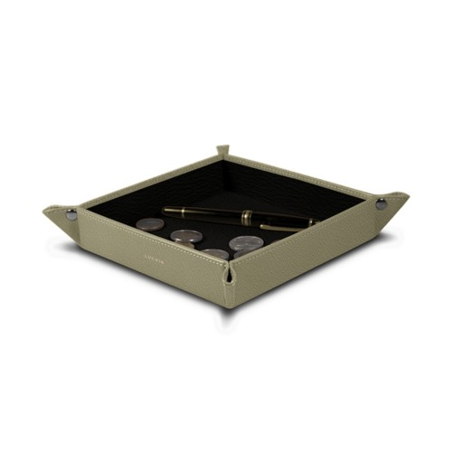 Square bicolor tidy tray (8.27 x 8.27 x 1.38 inches)