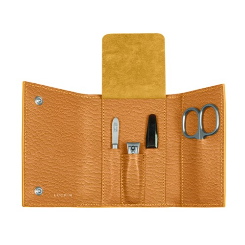 Manicure Set - Saffron - Goat Leather
