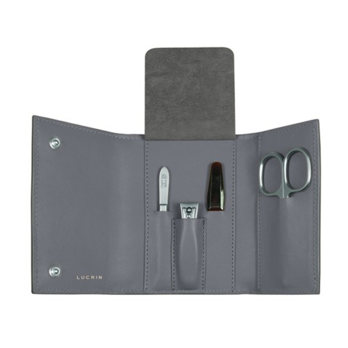 Manicure Set - Mouse-Grey - Smooth Leather