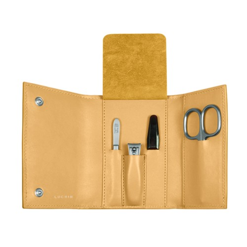 Manicure set - Mustard Yellow - Smooth Leather