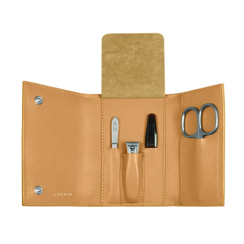 Manicure Set - Natural - Smooth Leather