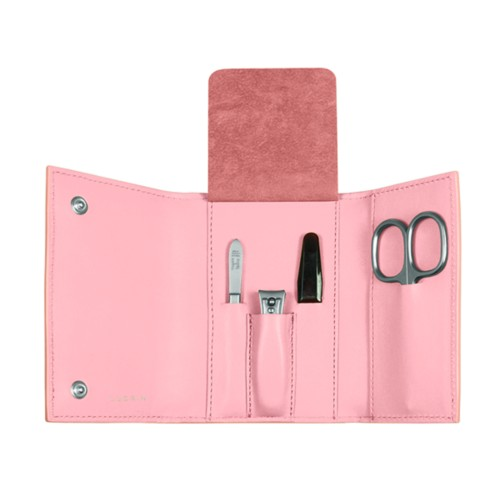 Manicure Set - Pink - Smooth Leather