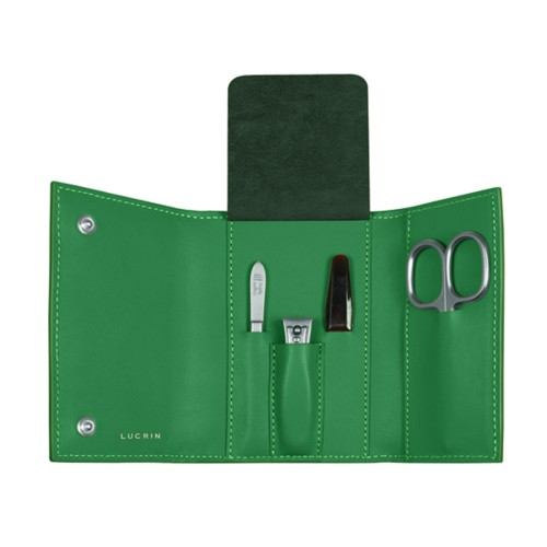 Manicure set - Light Green - Smooth Leather