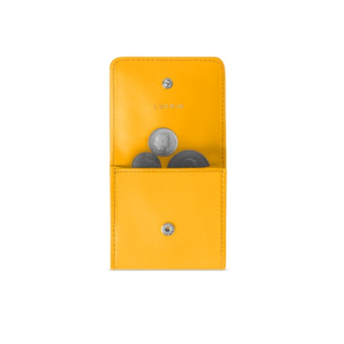 Coin pouch - Sun Yellow - Smooth Leather