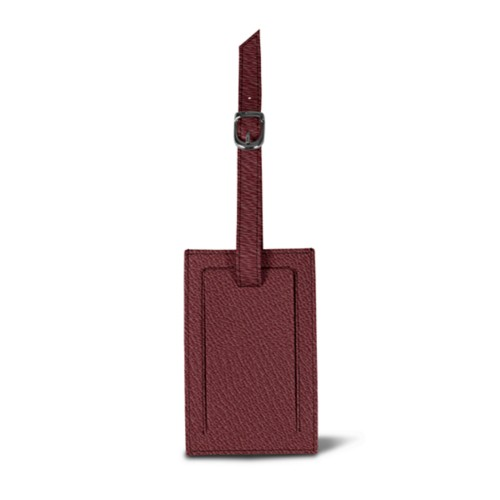 Bag Tag - Burgundy - Goat Leather