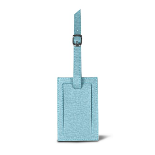 Bag Tag - Sky Blue - Goat Leather