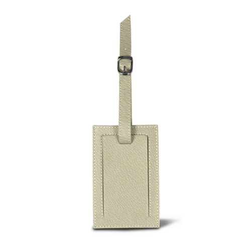 Rectangular bag tag - Off-White - Goat Leather
