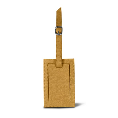 Bag Tag - Natural - Goat Leather