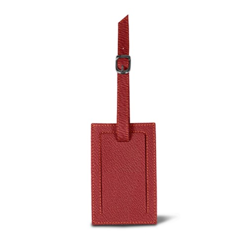Bag Tag - Pink Salmon - Goat Leather
