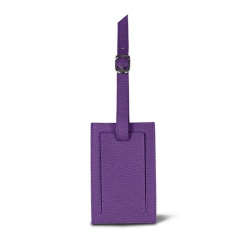 Bag Tag - Purple - Goat Leather