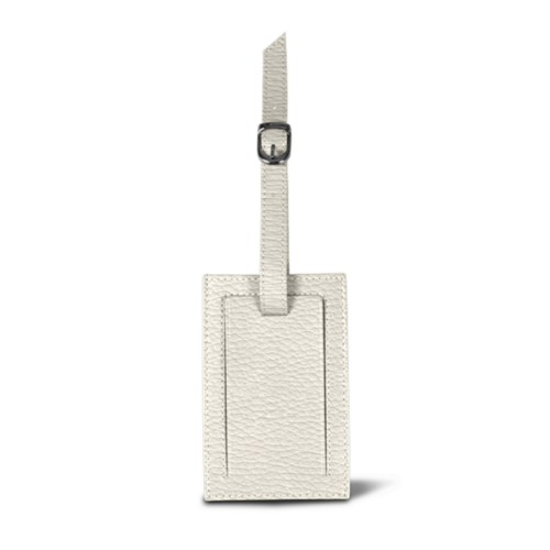 Bag Tag - Off-White - Granulated Leather