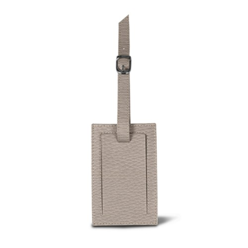 Bag Tag - Light Taupe - Granulated Leather