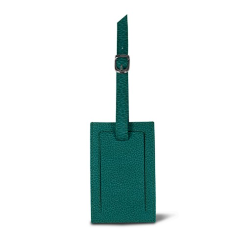 Luggage tag - Sea Green - Granulated Leather