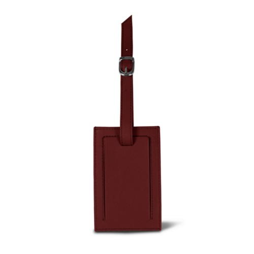 Luggage tag - Burgundy - Smooth Leather