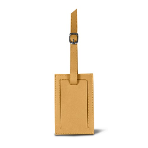 Luggage tag - Yellow - Smooth Leather