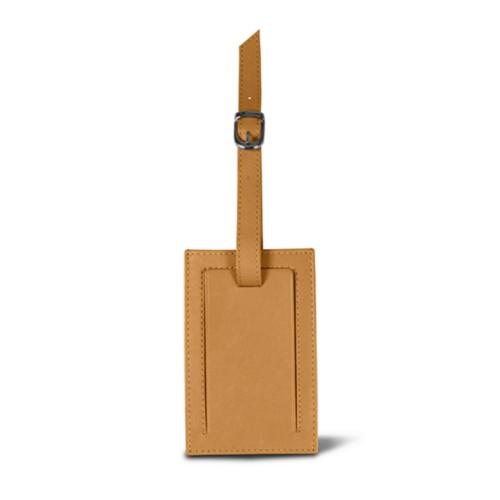 Rectangular bag tag - Natural - Smooth Leather